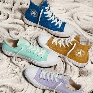 一律$25 多款颜色可选Converse官网 Chuck Taylor等潮流帆布鞋促销