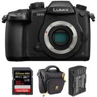 Panasonic Lumix DC-GH5 + 32GB SD + 电池 + 包