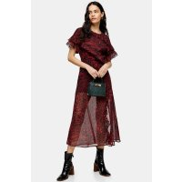 Topshop 红色长款连衣裙