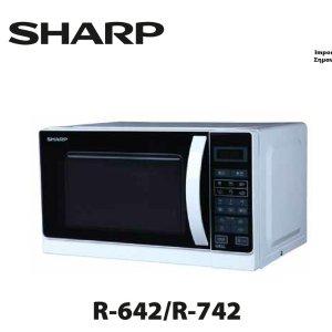 折后仅€81 预设6种工作程序Sharp R-642 夏普微波炉热促 带烧烤功能 外形时尚大气