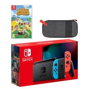 Nintendo动森游戏套装 红蓝机