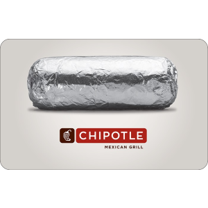 $42.5Chipotle $50 Gift Card