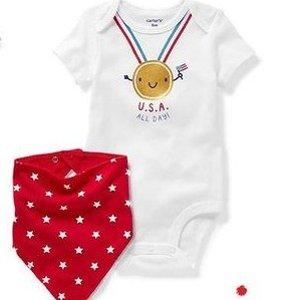 奖牌T恤$5 睡衣套装$4.79折扣升级:Carter's官网 超萌冠军宝宝系列服饰 为奥运加油