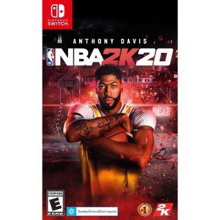 $29.99 (原价$39.99)《NBA 2K20》Nintendo Switch / PS4 / Xbox One 实体版