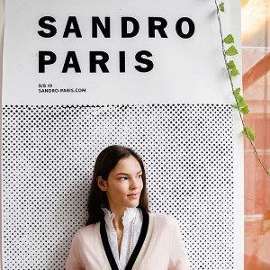 低至5折+额外85折 £88收小洋裙Sandro 裙子专场 限时折上折  给你的夏天增添法式优雅