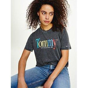 TOMMY JEANSOrganic Cotton Colorful Logo T-Shirt.