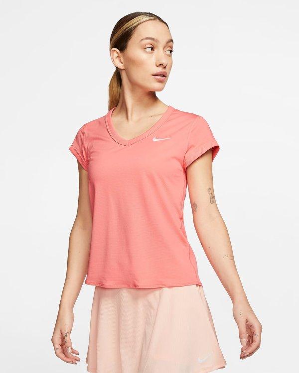 桃粉色T恤