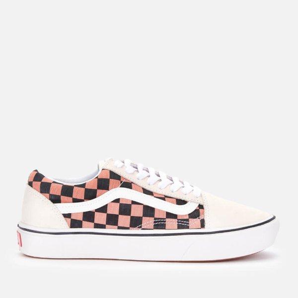 女士格纹滑板鞋