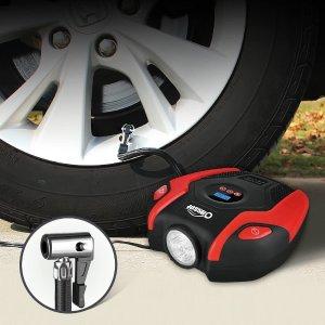 $33.14(原价$38.99)Oasser 便携式车载电动充气泵 可测胎压 配送多个转换头
