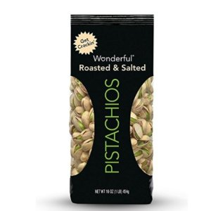 $4.74 Wonderful Pistachios, Roasted and Salted, 16-oz Bag