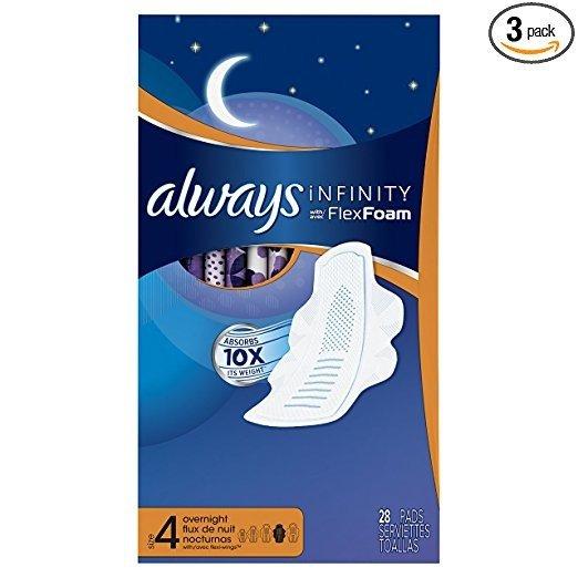 Infinity 液体卫生巾 夜用量多型 78片