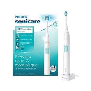 Philips4100 温和清洁款 电动牙刷 白色