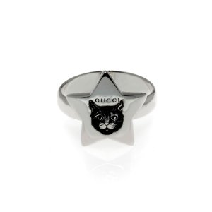 GucciBlind For Love Sterling Silver Ring Sz 4.5 YBC502167001008