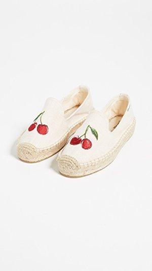 Soludos Cherries Smoking Slippers | SHOPBOP