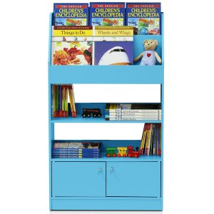 $45.5包邮 两色可选Furinno 儿童彩色书架 收纳功能超强