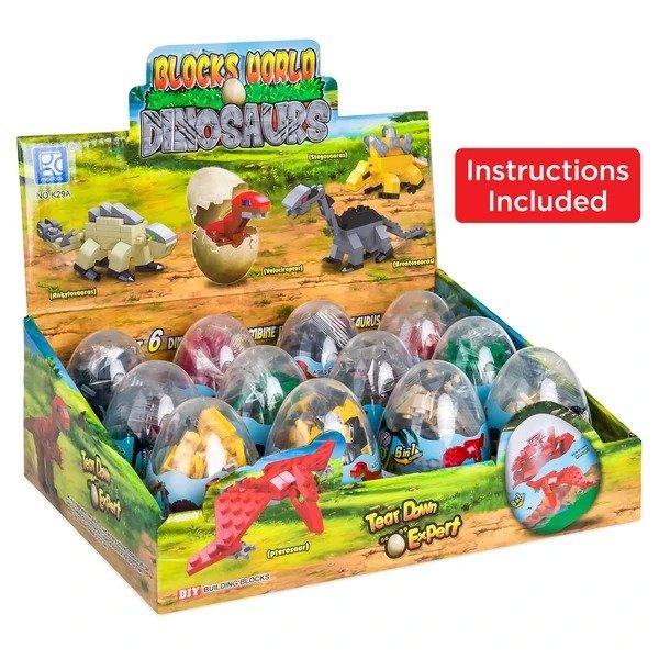 12件套6合一恐龙蛋玩具套装