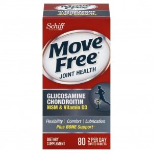 SchiffMove Free Glucosamine Chondroitin, MSM & Vitamin D3, Coated Tablets, 80 tablets