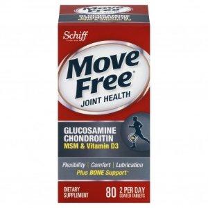Schiff买1送1Move Free + 维生素D3 氨基葡萄糖维骨力 80粒