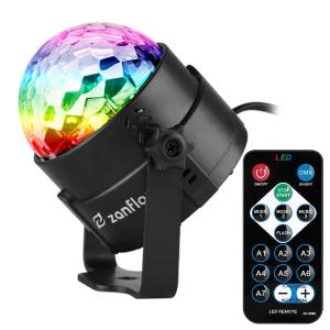 $13.59闪购:Zanflare 多彩水晶球LED派对灯