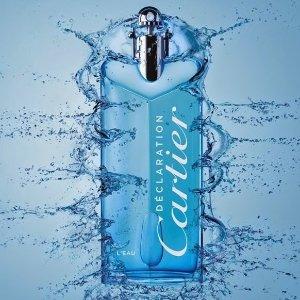 $47-$66(原价$78-110)+好礼Cartier 卡地亚宣言蓝色行动香水特卖,安静温柔留香持久