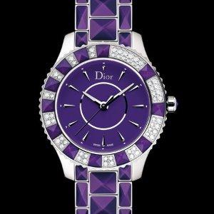 $2195(原价$8250) 2.66折入手独家:Dior 蓝宝石水晶镶钻奢华女表罕见好价 上手超美