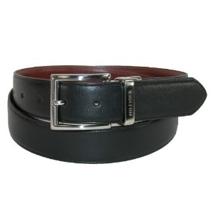 Tommy Hilfiger Men's Feather Edge Reversible 32mm Belt, 44, Black to Tan by Tommy Hilfiger