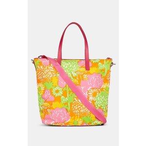 PradaLeather-Trimmed Floral Tote Bag Leather-Trimmed Floral Tote Bag