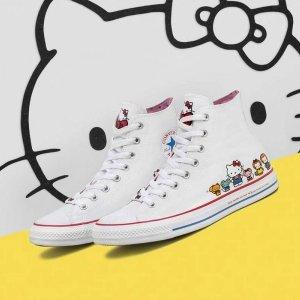 """低至$45  限量款致""""初心"""",收藏价值高开抢:Converse x Hello Kitty 合作款帆布鞋热卖"""