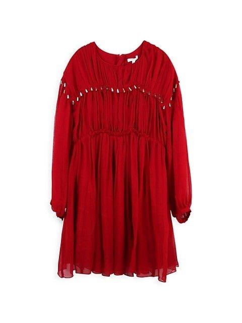 女童丝质连身裙