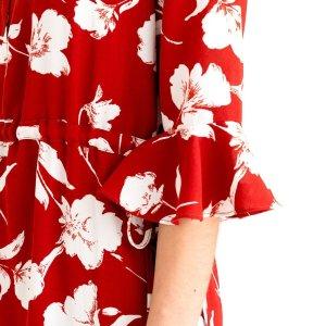 Celina Dress - Red Floral – Petite Studio