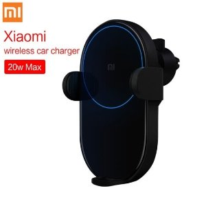 In Stock! Xiaomi Mi 20W Wireless Car Charger 2.5D Glass Electric Auto Pinch Ring Lit Charging for Xiaomi Mi Smartphone iPhone