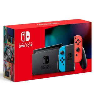 $299 w/ Free $30 CreditSwitch with Neon Blue and Neon Red Joy‑Con - HAC-001(-01)