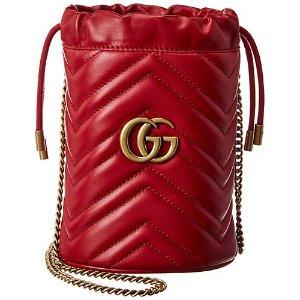 GucciGG Marmont Mini Matelasse Leather Bucket Bag