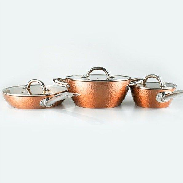 CONCORD 浓香奢华系 锤印不粘厨具组 6件套 - 亚米网