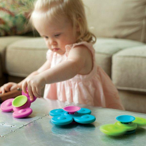 带吸盘的旋转陀螺玩具