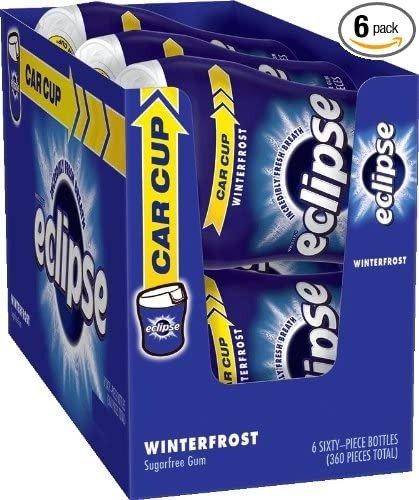 Eclipse 冬霜无糖口香糖,6罐