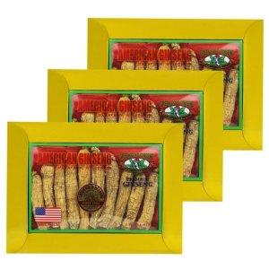 花旗(西洋)參長枝特大4oz盒裝3盒套組