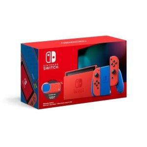 Nintendo马里奥红蓝配色限定游戏机