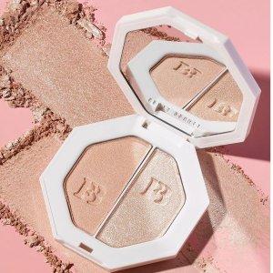 无门槛7折+免邮最后一天:Fenty Beauty 高光热卖 收钻石高光、双色提亮