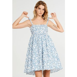 Claudie Pierlot手洗!不可漂白碎花吊带连衣裙