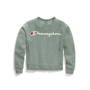 ed25f97bd ChampionLife® Women's Garment-Dyed Reverse Weave® Crew, Embroidered Logo