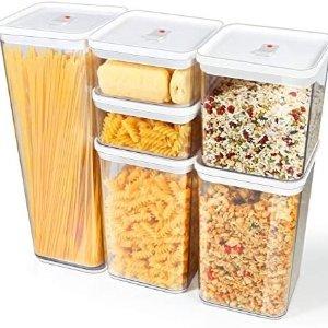 TBMax 带密封盖食物储存盒6件套
