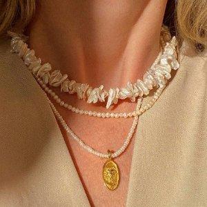 满减$25 珍珠项链$15Simons 美到心碎珍珠配饰 宋茜、吴亦凡都爱的法式chic
