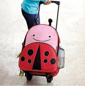 $29.99(原价$48.99)超萌Skip Hop 瓢虫造型多功能拉杆书包/行李箱