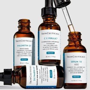 线上折扣+额外8折闪购:SkinCeuticals 修丽可 神仙套组!防晒CP帮你组!