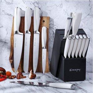 低至6.7折Emojoy 精选德国不锈钢厨房刀具套装