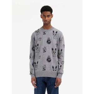 MCQ ALEXANDER MCQUEENBunny Sticker Crew-Neck Sweater