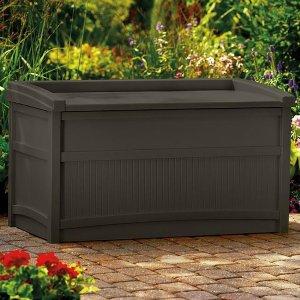 Suncast 50 Gallon Java Resin Storage Seat Deck Box
