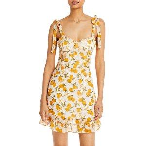 Aqua柠檬印花裙