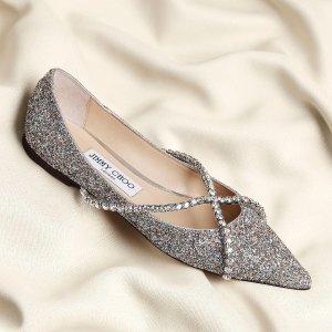 4.5折起  收封面新款水晶单鞋Jimmy Choo 美鞋大促 收绝美渐变高跟鞋、闪钻凉鞋$303